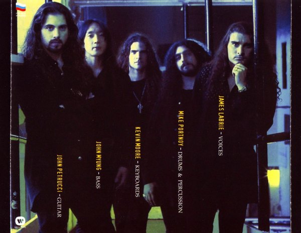 Dream Theater em 1994: John Petrucci, John Myung, Kevin Moore, Mike Portnoy e James LaBrie