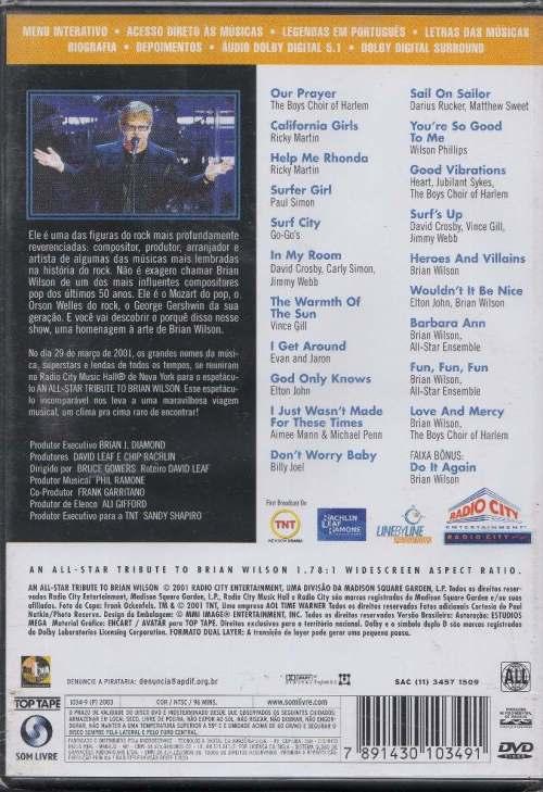 Contra-capa do DVD