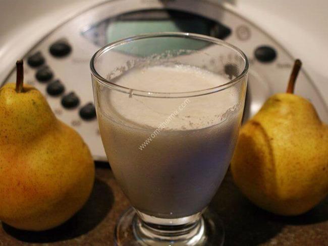 milk shake poire vanille au thermomix facile et rapide