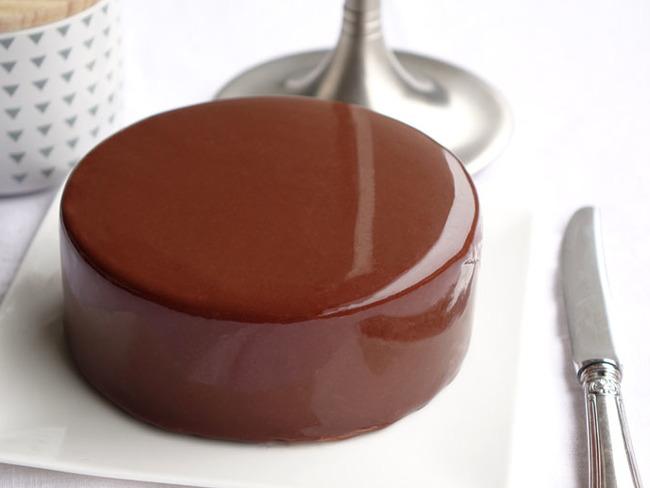 glacage miroir au chocolat noir
