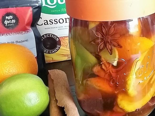 rhum arrange a l orange citron et cannelle