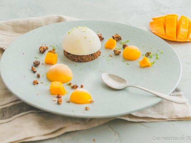 creme vanille sable et mangue
