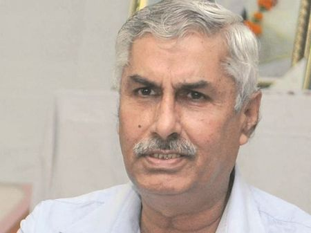 RSS leader Jagdish Gagneja was shot in a market in Jalandhar last year. Photo: UNI