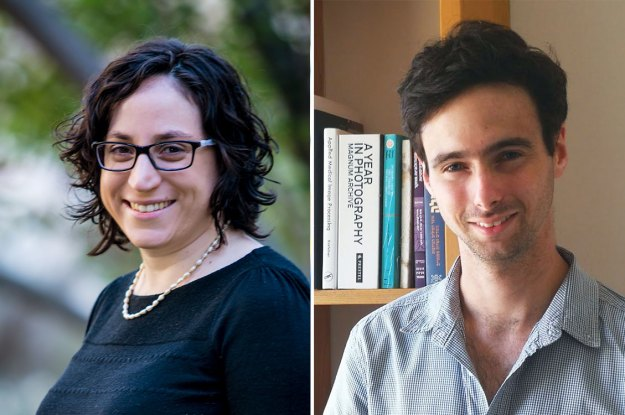 Noga Zaslavsky, left, and Ravid Shwartz-Ziv helped develop the information bottleneck theory of deep learning as graduate students of Naftali Tishby's.