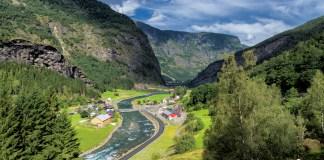 Norwegian valleys from the windows of the Flam Railway,