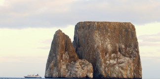 Kicker Rock ( Roca Leon Dormido Island -Sleeping Lion) off of San Cristobal Island