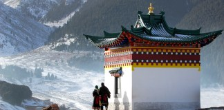 Prayer and Temple Tibet spiritual retreat