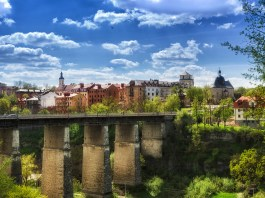 Famous Place, Summer, Kamianets-Podilskyi, Ukraine, Bridge