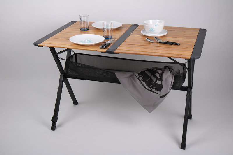 bamboo folding camping table roll up camping table dark alu frame