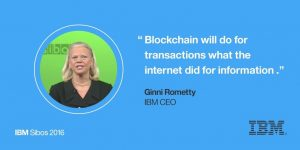 Blockchain will do for transactions what the internet did for information - IBM