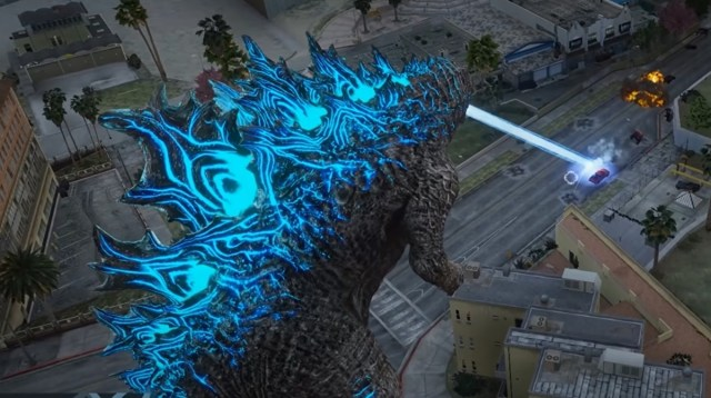This new GTA 5 Godzilla mod lets you rampage with atomic breath 2