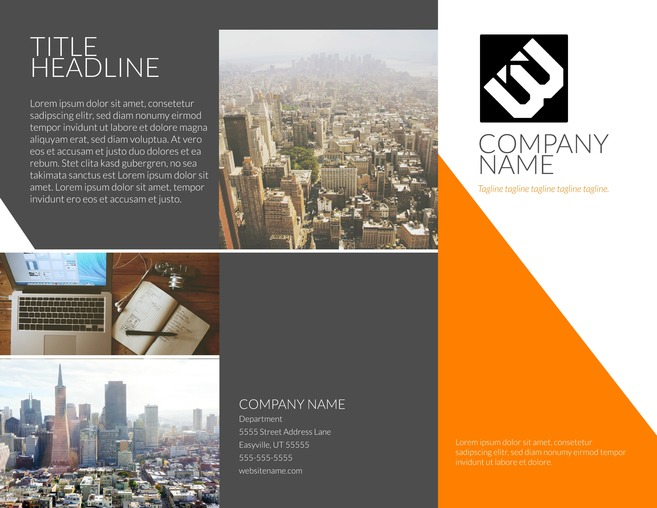 Free Brochure Templates   Examples  20  Free Templates  Contempo Modern Tri Fold Brochure Template