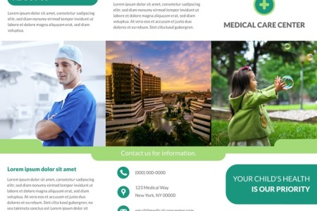 22 Free Pamphlet Templates   Examples   Lucidpress Contemporary Medical Tri Fold Brochure Template