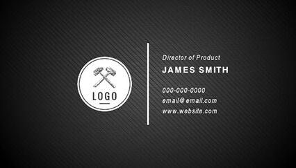 15 Free Double Sided Business Card Templates   Lucidpress Striped Black Business Card Template