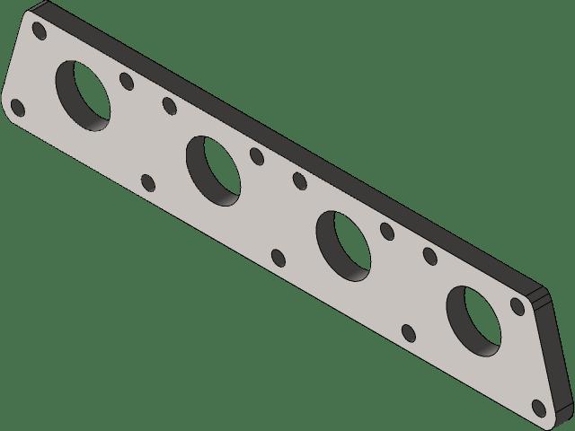 vag 1 8t exhaust manifold flange 3d