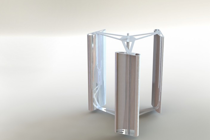 Vertical Axis Wind Turbine STEP IGES SOLIDWORKS 3D