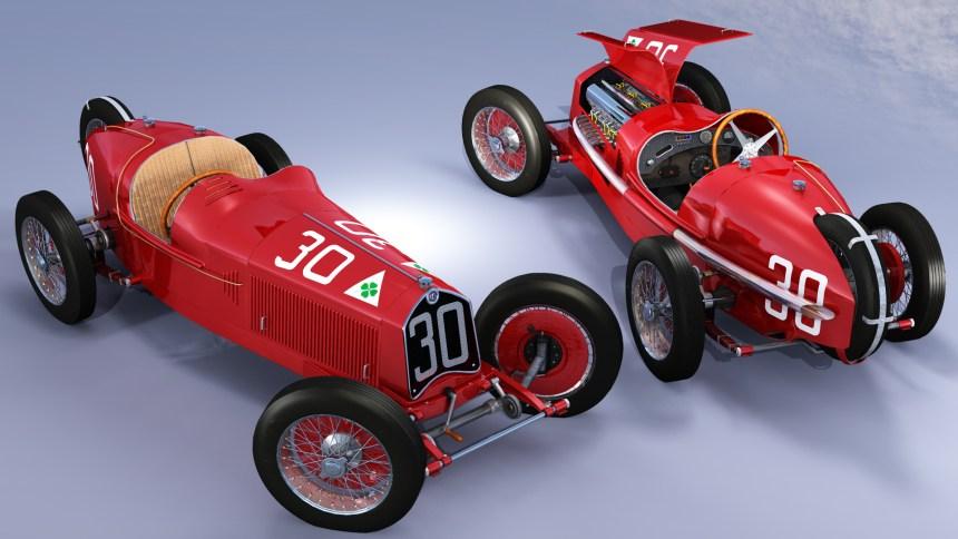 Alfa Romeo P2 3D Render