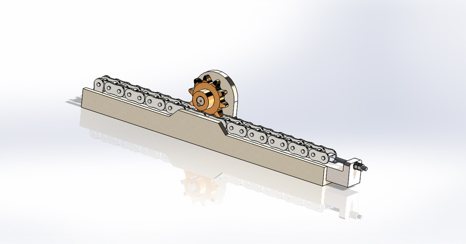 low cost rack and pinion 3d cad model