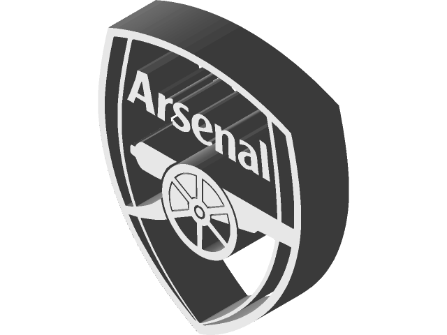 arsenal badge 3d cad model library