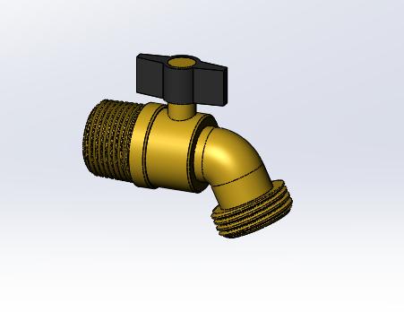 garden hose faucet 3d cad model