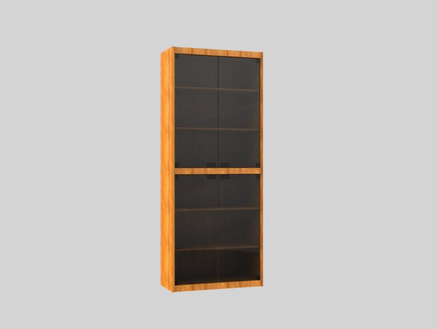 bibliotheque en bois avec porte vitre