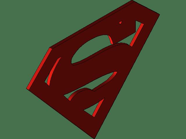 Superman Logo Superman S 3d Cad Model Library Grabcad