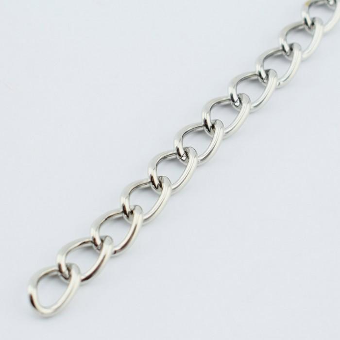 chaine couleur argent 1 metre