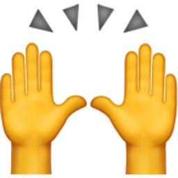 Image result for hands raised emoji