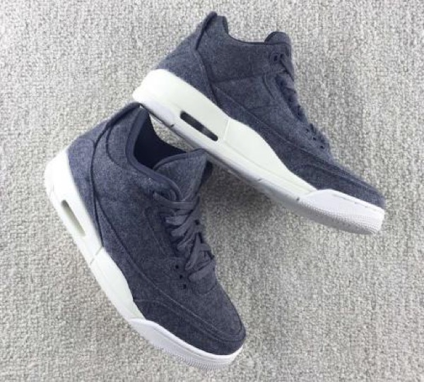 "NIKE AIR JORDAN 3 WOOL ""DARK GREY"""