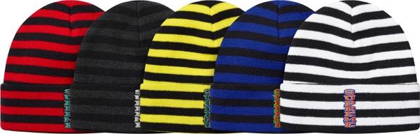Vertical Logo Striped Beanie