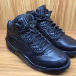 "リーク 7月発売予定 NIKE AIR JORDAN 5 PREMIUM ""TRIPLE BLACK"""