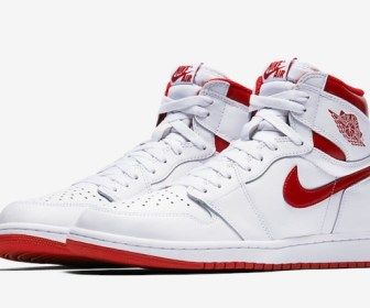 "5月6日発売予定 NIKE AIR JORDAN 1 HIGH OG ""Metallic Red"""