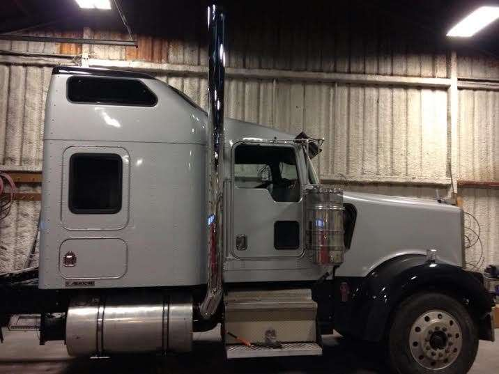 7 x 108 flat top kenworth w900 stack kit 1995 and newer w aero cab and 40