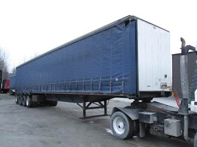 2006 utility air ride quad axle curtain van curtain side trailer