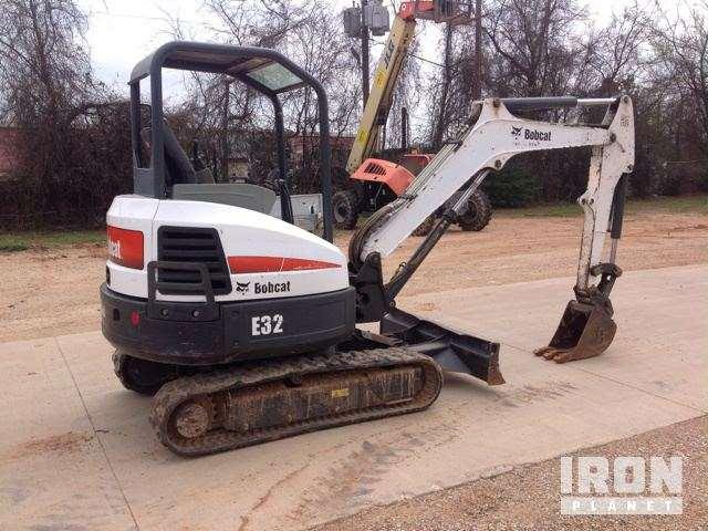 2012 Bobcat E32M Mini Excavator For Sale, 1,620 Hours