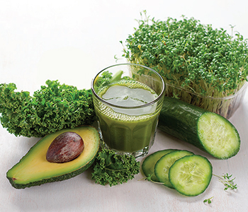 Juicing cruciferous vegetable sprouts (such as kale, broccoli, & cauliflower sprouts) provides an additional boost of nutrients