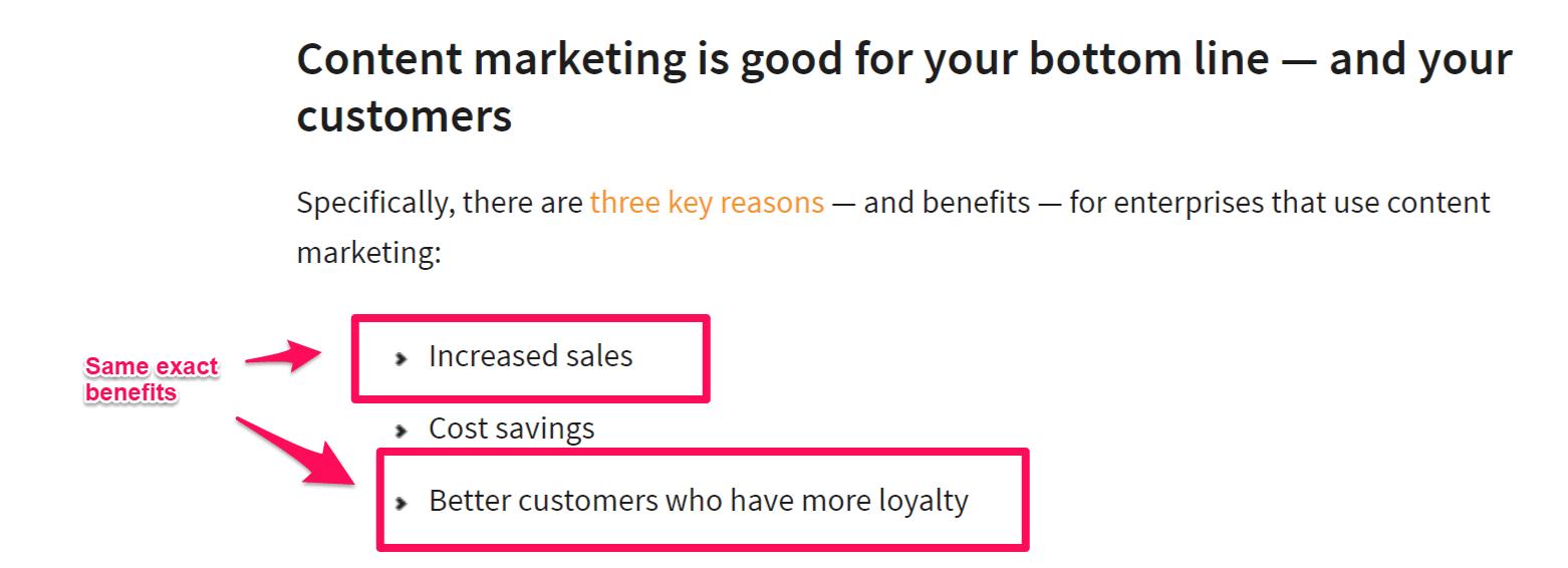 benefits of content marketing CMI