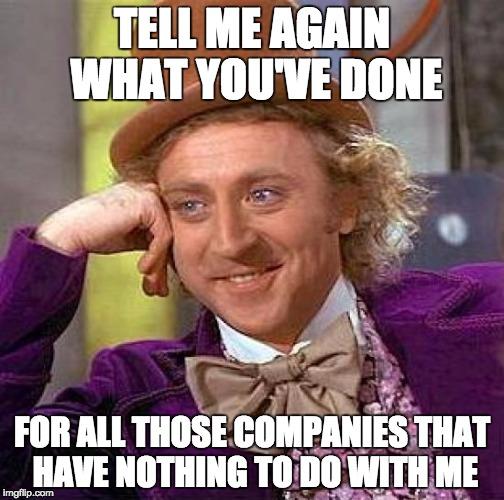 Snarky Wonka takes on the Salesman