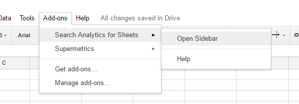 Search Analytics for Sheets Install