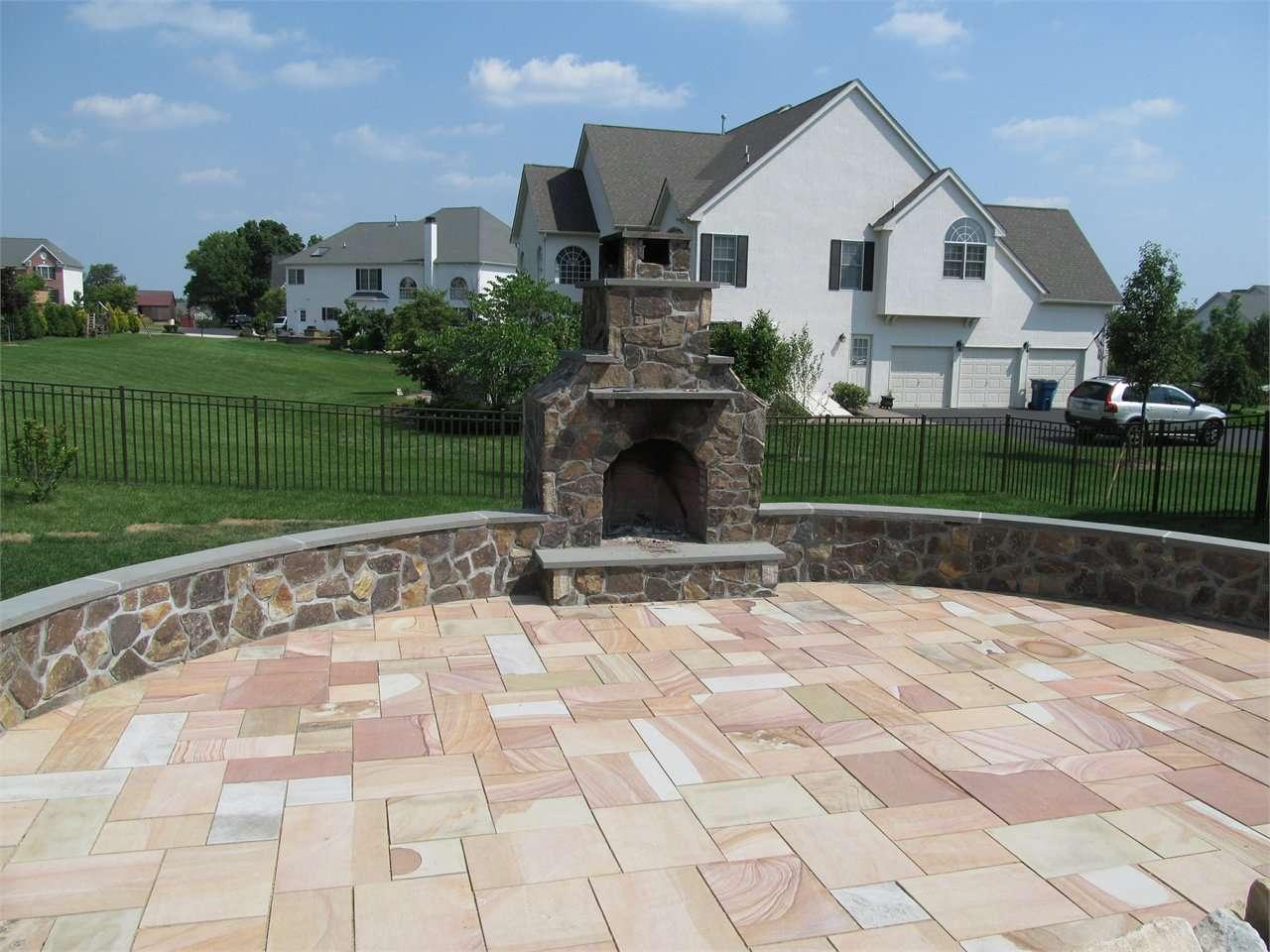 outdoor fireplace patio ajr