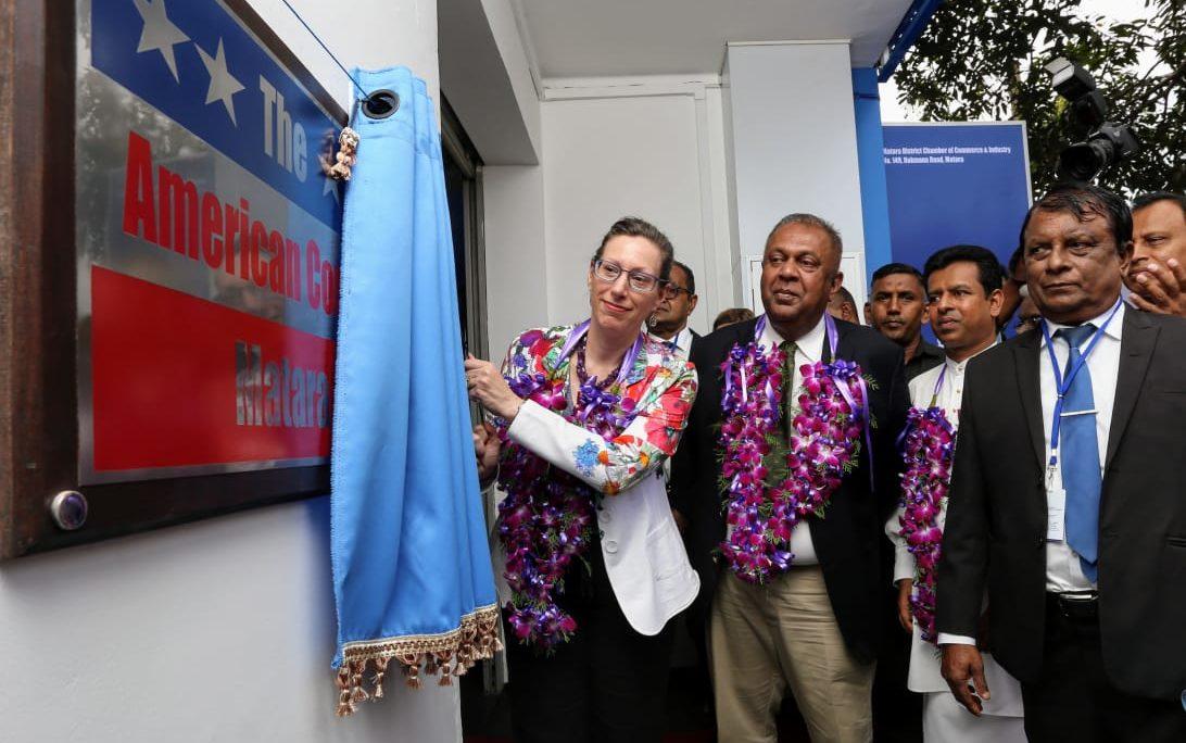 February 27 Matara U S Ambassador To Sri Lanka Alaina B Teplitz And Minister Of Finance Mangala Samaraweera Launched A New American Corner In Matara On