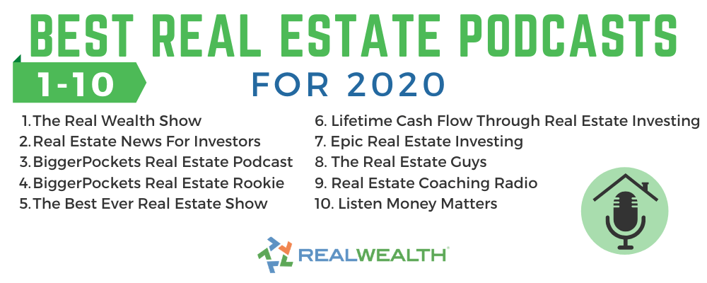 Infographic Highlighting Best Real Estate Podcasts for 2020 1-10 Infographic