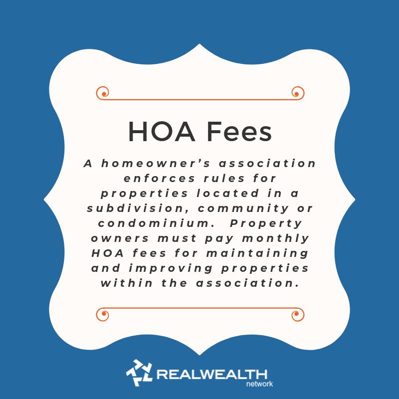 definition of HOA Fees