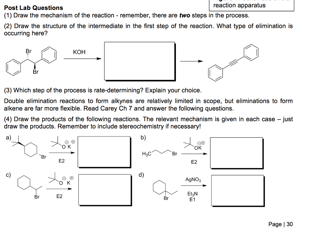 Solved Reaction Apparatus Post Lab Questions 1 Draw The