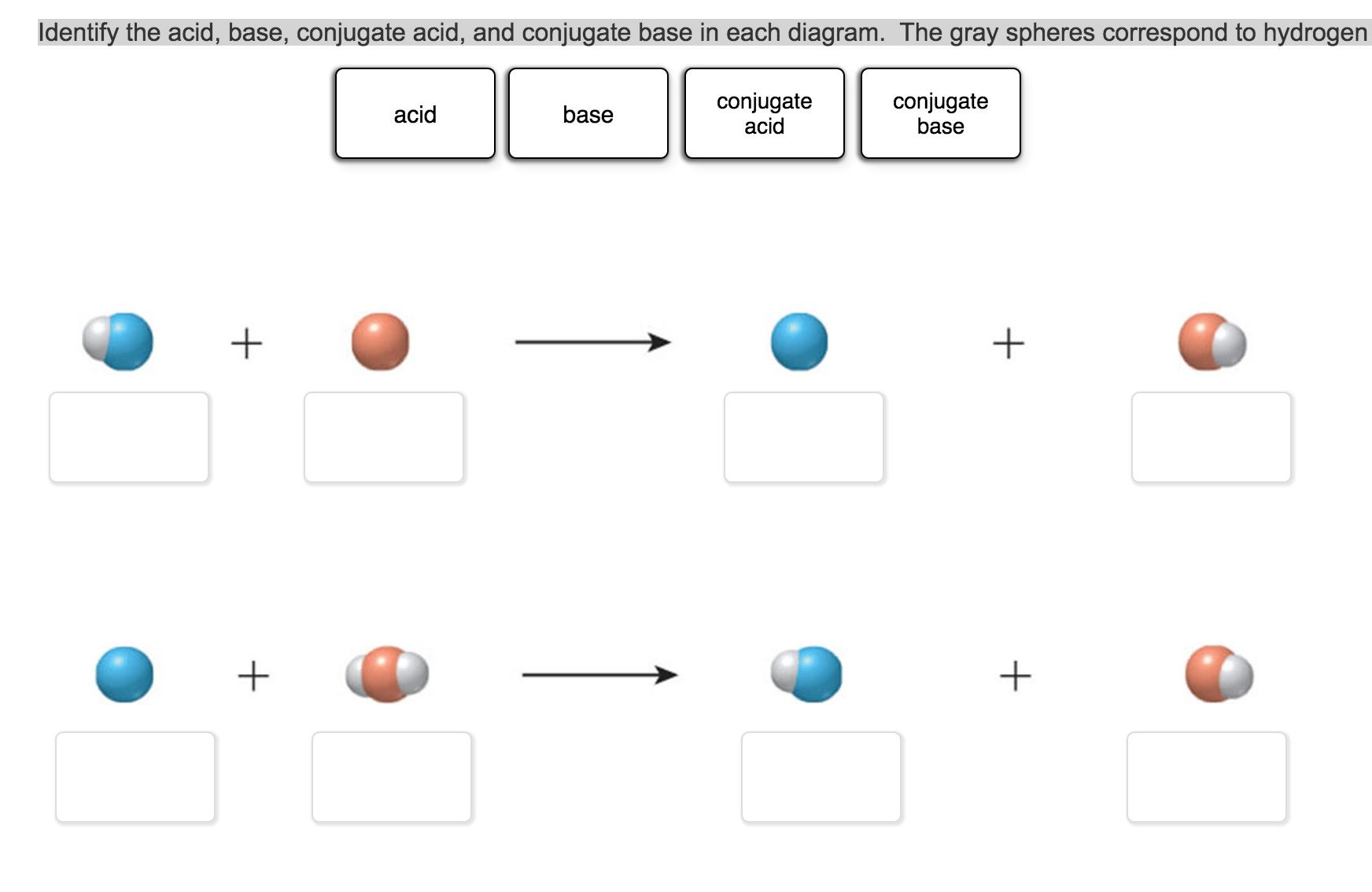 Solved Identify The Acid Base Conjugate Acid And Conju