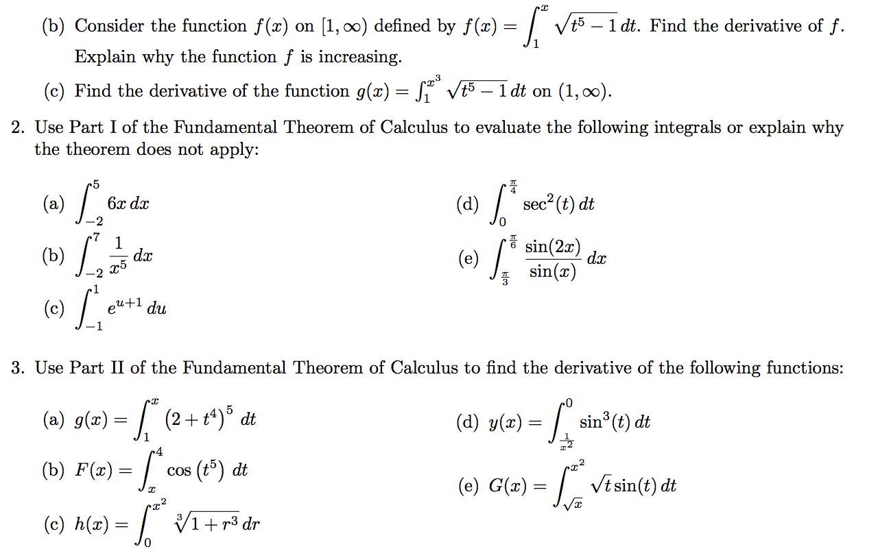 Solved Consider The Function F X On 1 Infinity Define