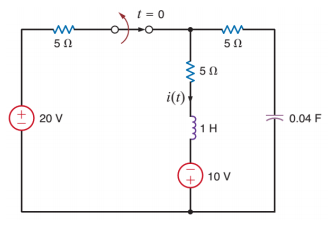 media%2F2c3%2F2c3beed8 9fe6 4030 9a48 a0066c1e007e%2FphpdRvmvp - The switch in the circuit below has been closed for a long time and is opened at t=0. Find i(t) for t > 0 .