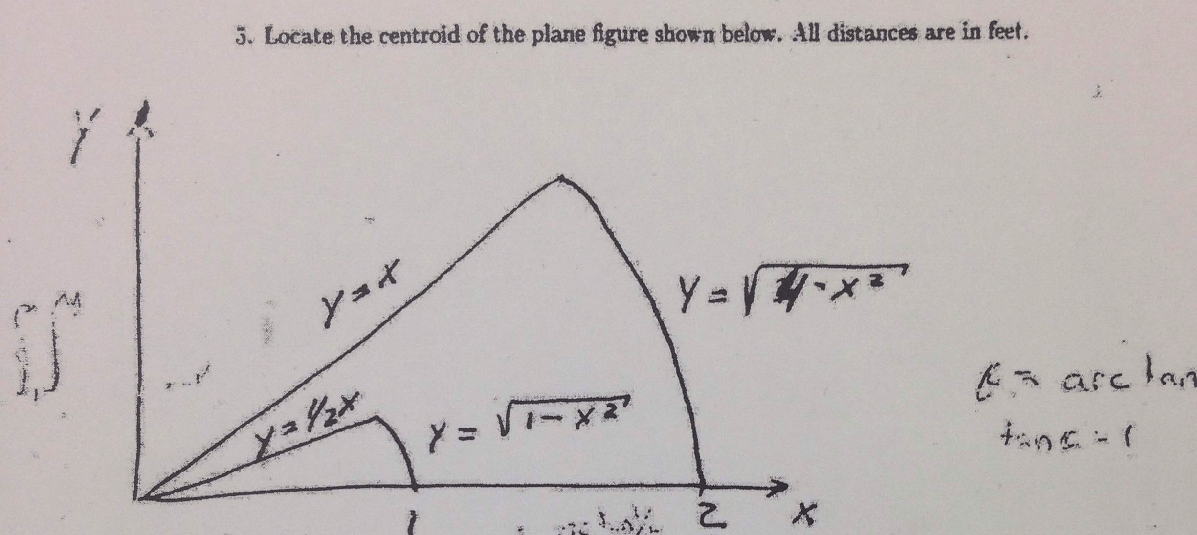 Locate The Centroid Of The Plane Figure Shown Belo