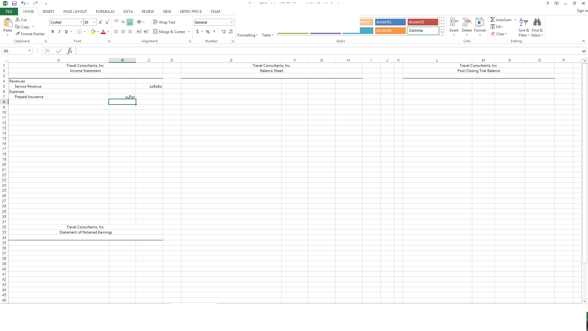 Solved What I Have Is A Competed Worksheet First Picture