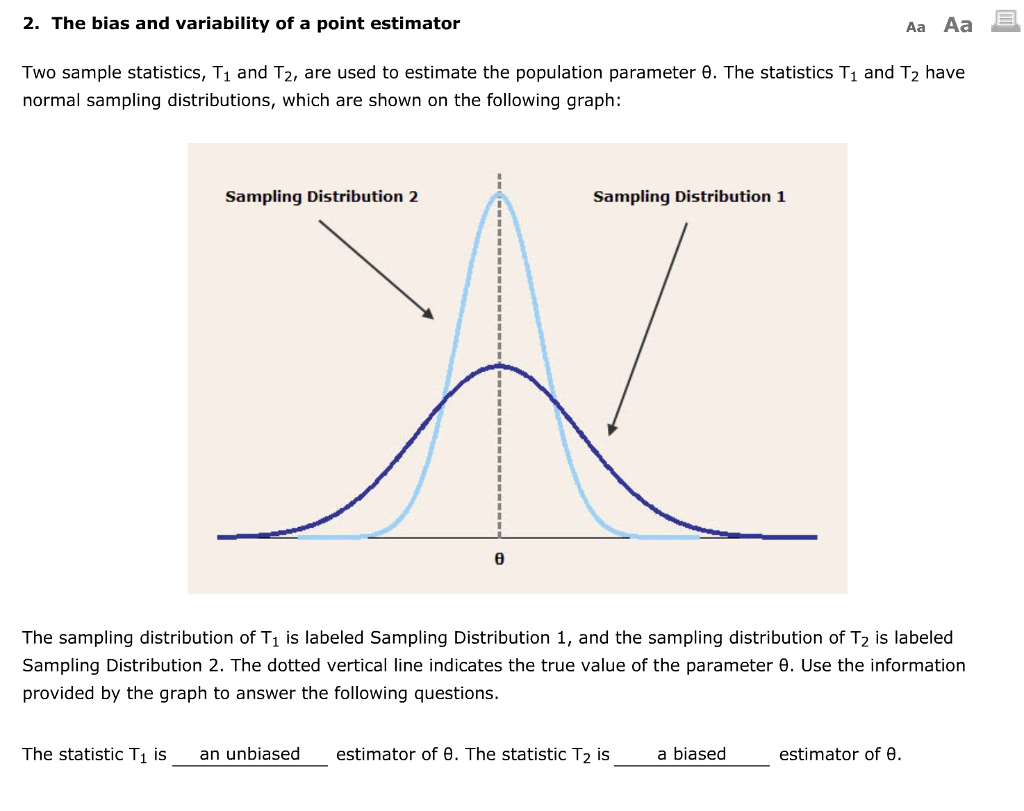 Solved 2 The Bias And Variability Of A Point Estimator A